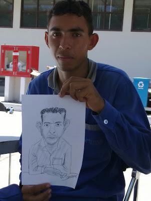 Caricatura em evento na Vale do Rio Doce - 1