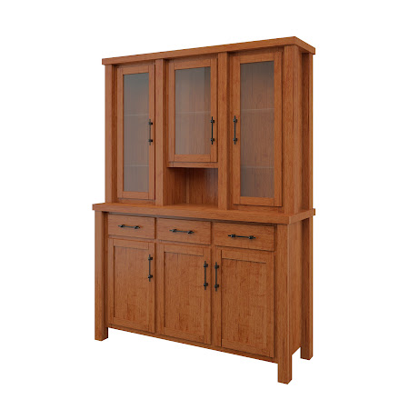 Ashton China Cabinet in Itasca Maple