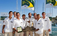 J/122 Artie sailing team- winners Rolex Middle Sea Race
