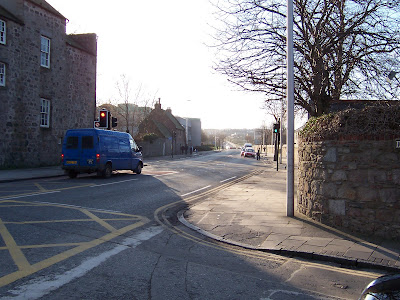 Pedestrian crossing, Old Aberdeen (Scotland)
