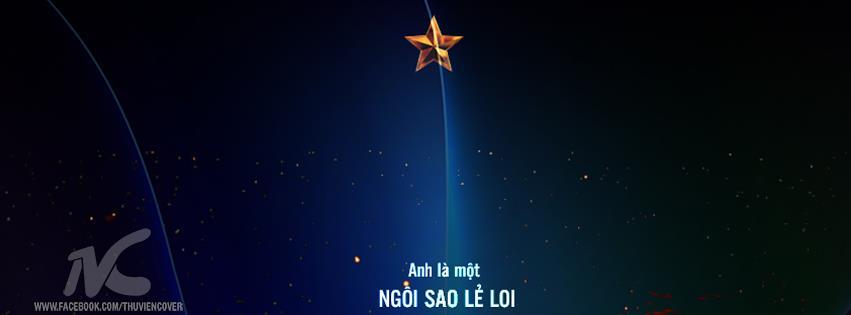 ảnh bìa facebook ngôi sao cô đơn lẻ loi