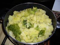 Patate e verza olio e aglio