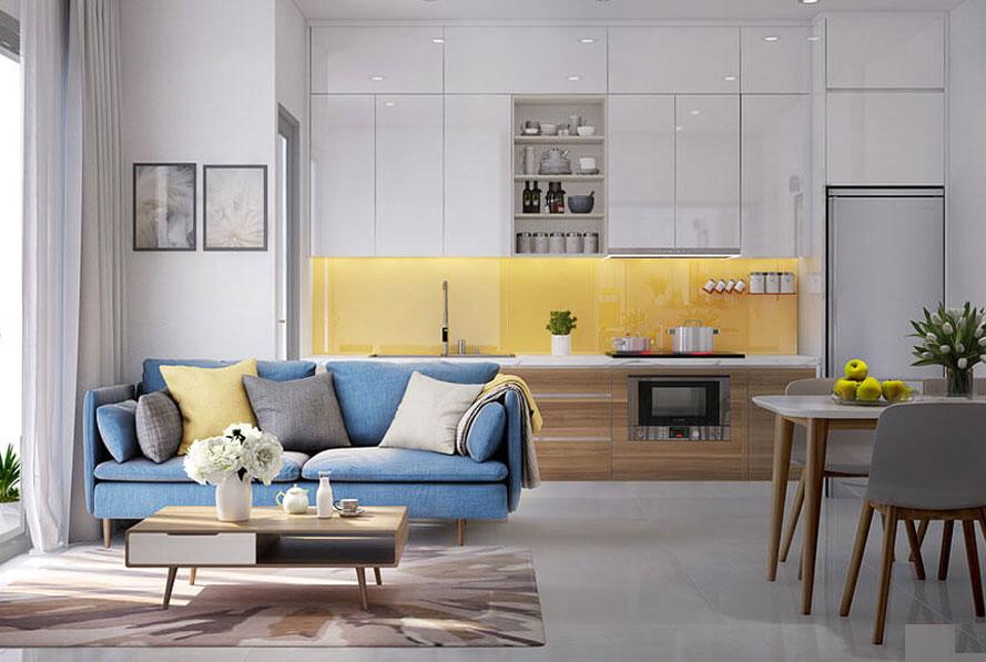 nội thất căn hộ chung cư 60m2