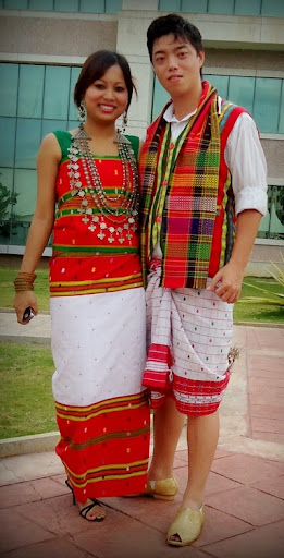 Traditional Tripuri dress for men and women