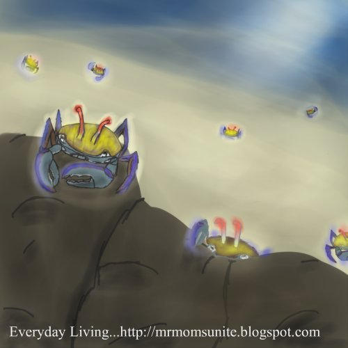 drawing of a Groovy Crab by Katie Hicks