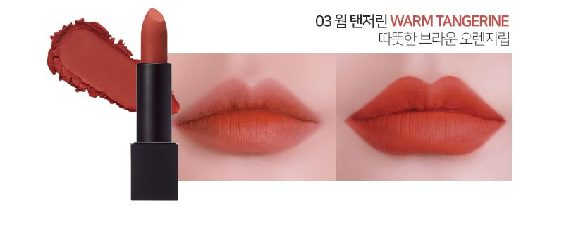 Son LUNA Realway Velvet Lipstick Warm Tangerine
