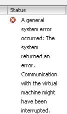 general system error
