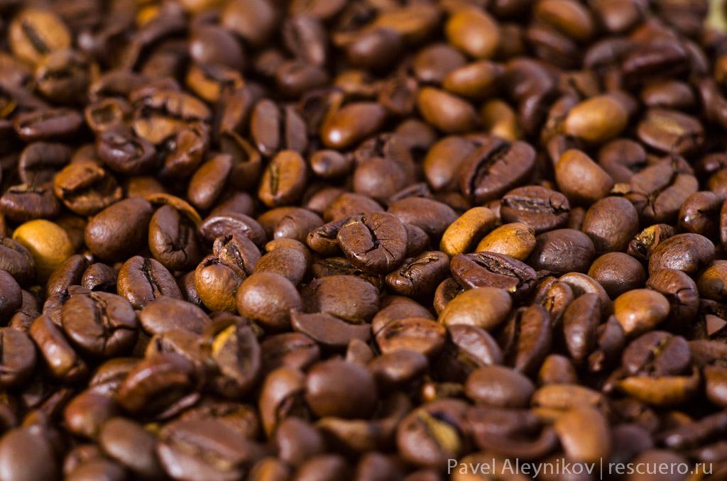 Кофе, съемка с применением колец