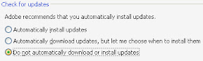 adobe reader update settings