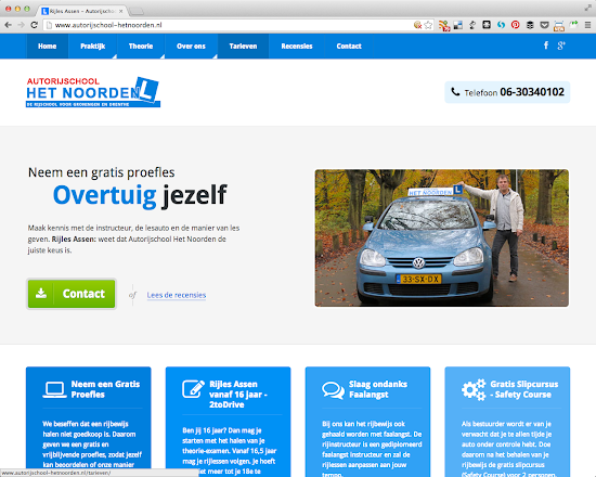 Website: Rijles in Assen