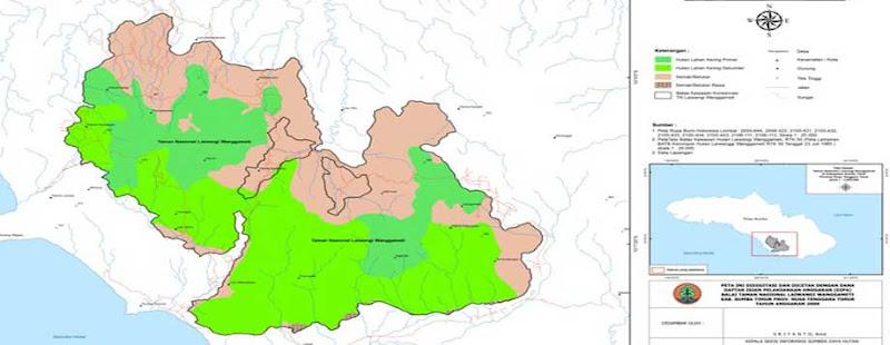 Sket Peta Tutupan Lahan TN Laiwangi Wanggameti