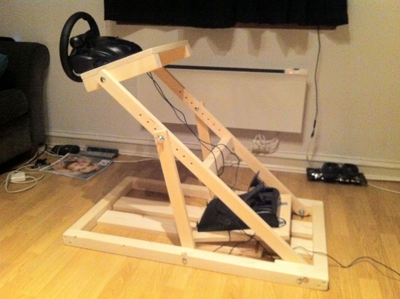 steering wheel stand diy diy do it your self