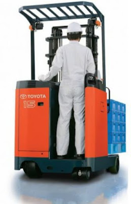 Xe nâng kho hẹp Toyota reach truck
