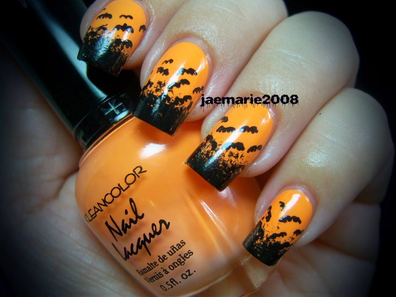easy halloween nail art for short nails