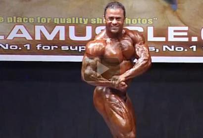 Charles Mario  - NABBA Overall Champion Posing