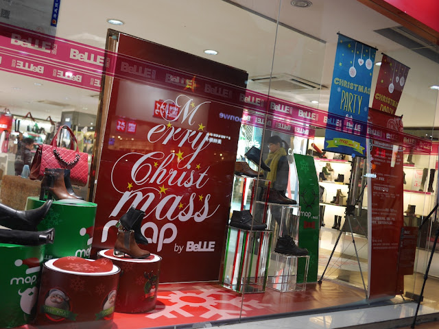 Christmas promotion at Belle in Zhangzhou, China