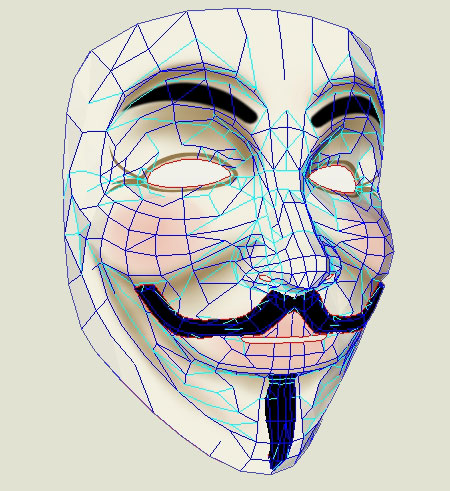 V for Vendetta Guy Fawkes Paper Mask