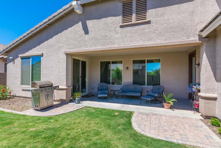 Backyard patio in Gilbert AZ