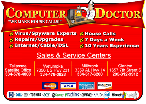 the computer doctor millbrook, clanton, wetumpka, tallassee alabama