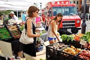 Shoppers at Ripe Farmer's Market - Eilan, San Antonio, TX 78256