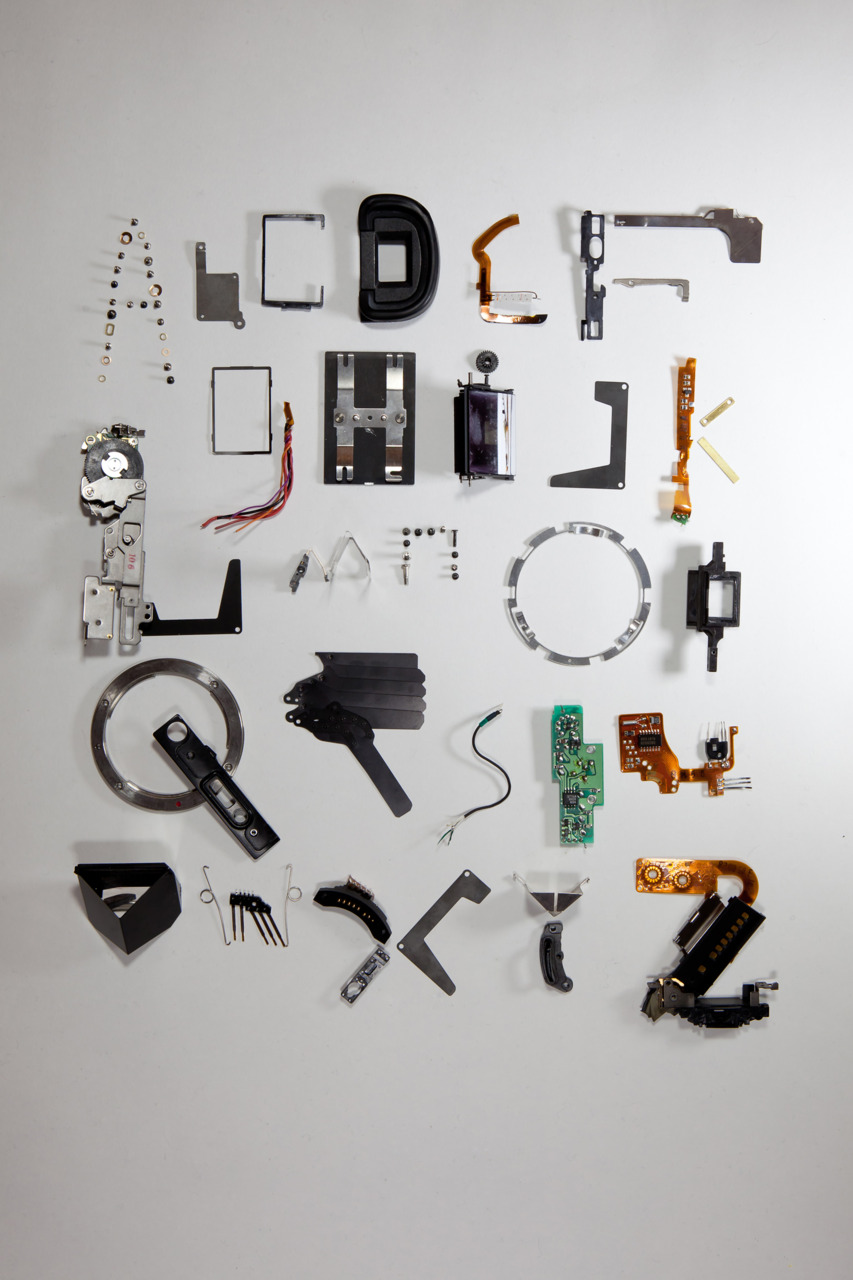 Beautiful Typeface Created By Destroying A DSLR Camera