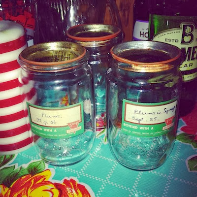 Jam jars from All Our Yesterdays.