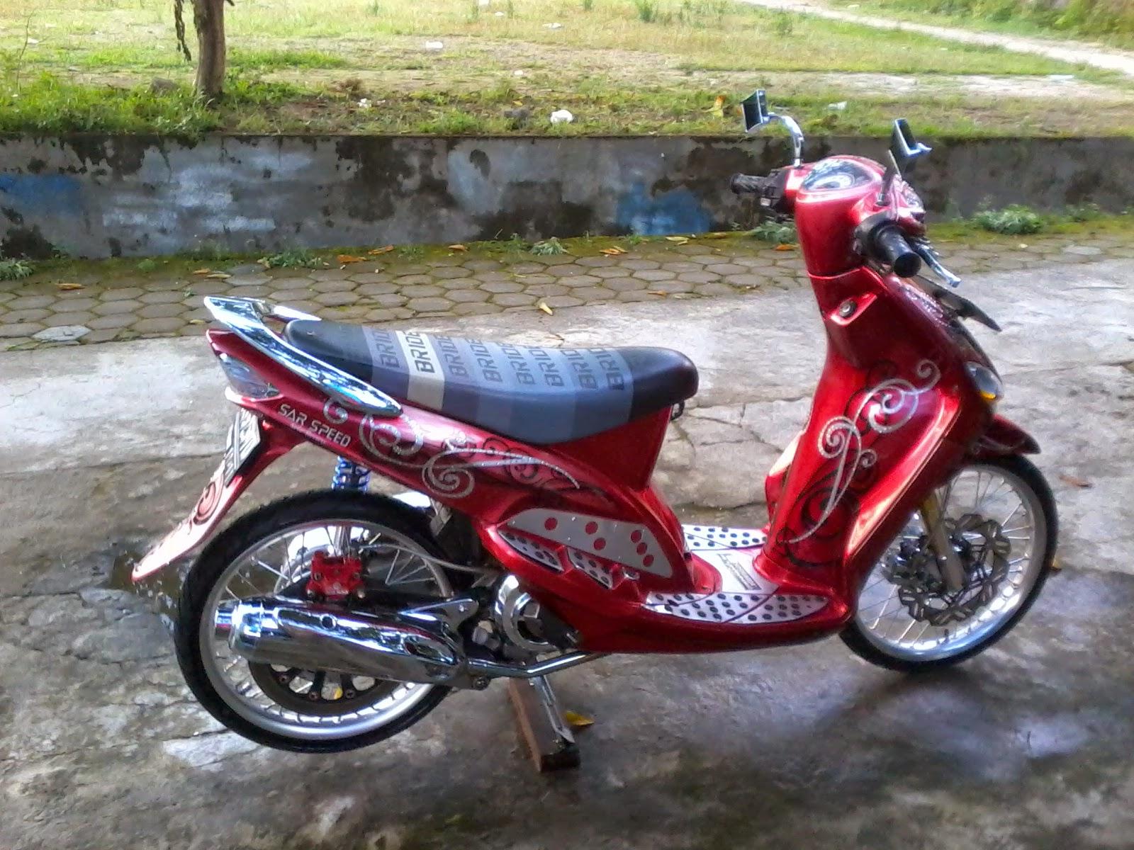 Modifikasi Motor Mio Warna Merah Pecinta Modifikasi