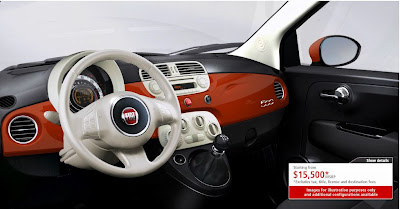 US Fiat 500 Pop Interior
