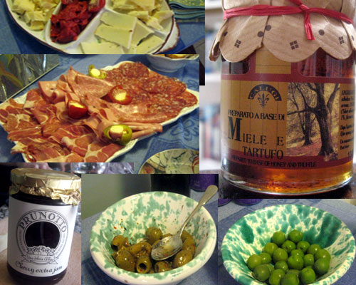 A Columbus Day Weekend with Italian Cheese, Salumi, Truffle Honey, and Cherry Preserves