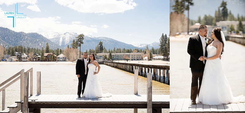 Tahoe Beach Retreat Wedding Portrait