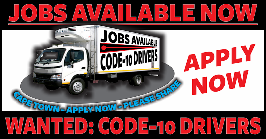 JOBS: Code 10 Drivers Cape Town