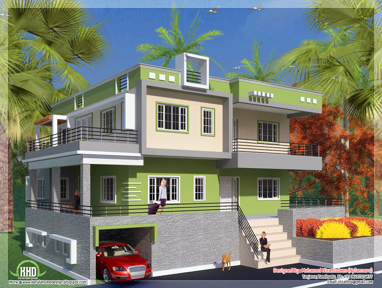 North Indian style minimalist house exterior design | Enter your ...