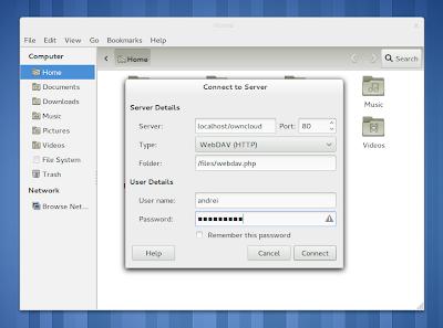 ownCloud Nautlus WebDAV