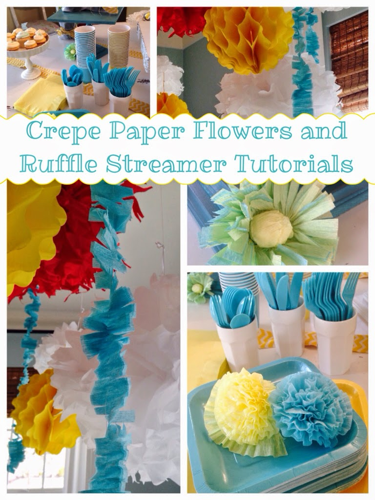 Crepe Paper Flowers And Ruffle Streamer Tutorials The Style Sisters