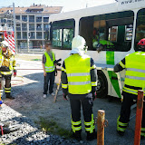 Simulation d'accident entre un train et un bus (5.06.2013)