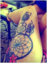 dreamcatcher tattoos on thigh 5