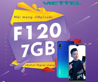 Gọi Miễn phí, nhận 7GB Data Gói F120 Viettel