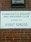 Squash, Gym and Snooker Club plain black & white sign