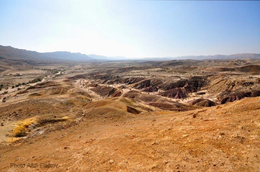 Пустыня Негев, пейзаж.