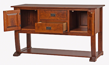 "64"" x 36"" Cathedral Sideboard in Antique Cherry"
