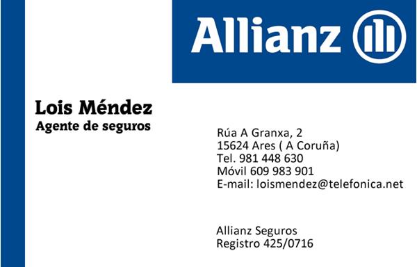Allianz Seguros. Lois Méndez, colaborador coa A.D.R. Numancia de Ares.