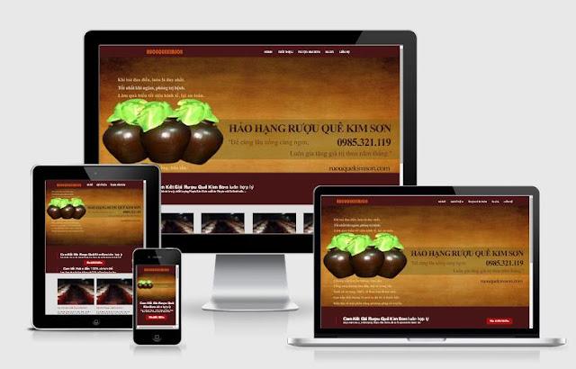 Template blogspot giới thiệu sản phẩm rượu Responsive