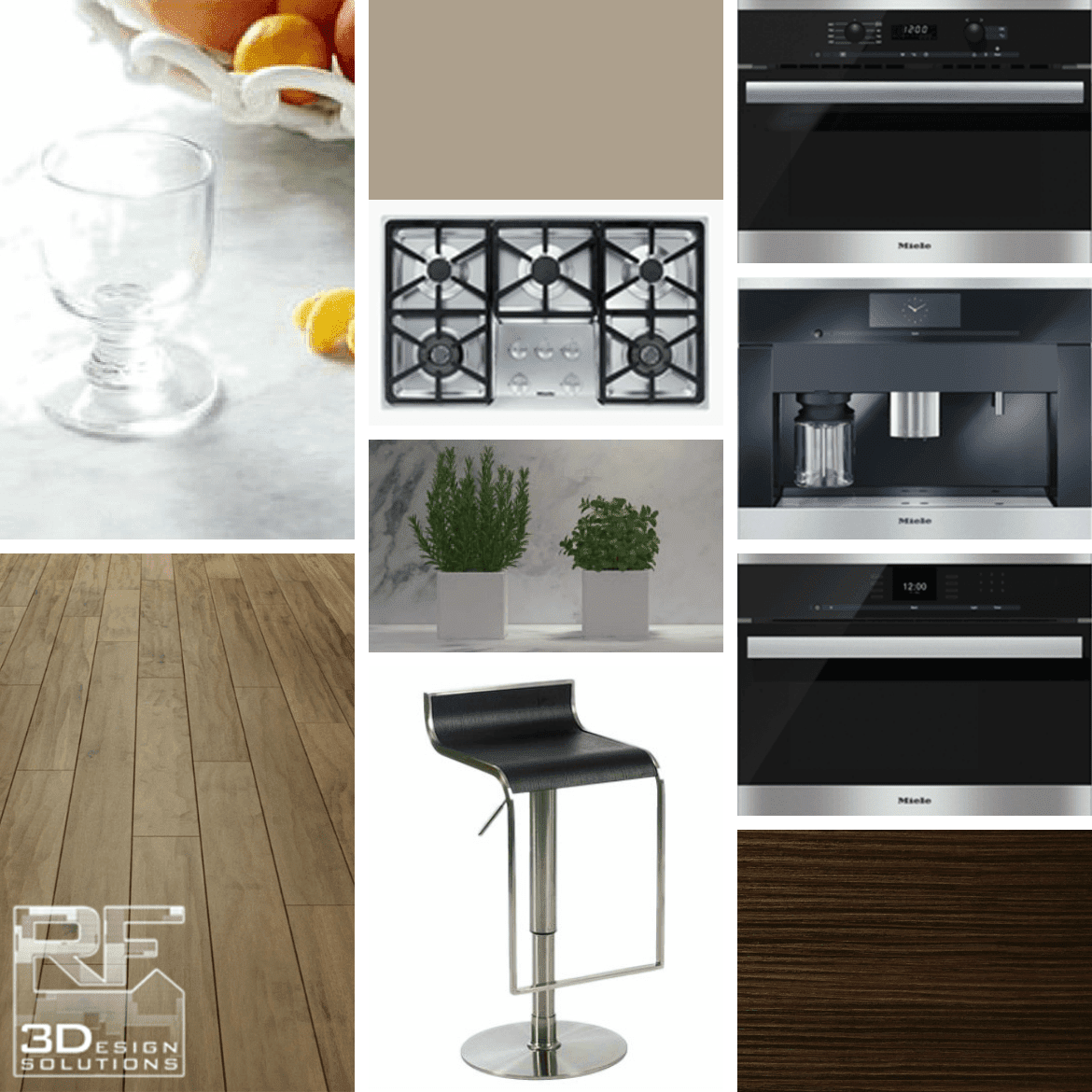RF 3Design Solutions Kitchen Mood Board