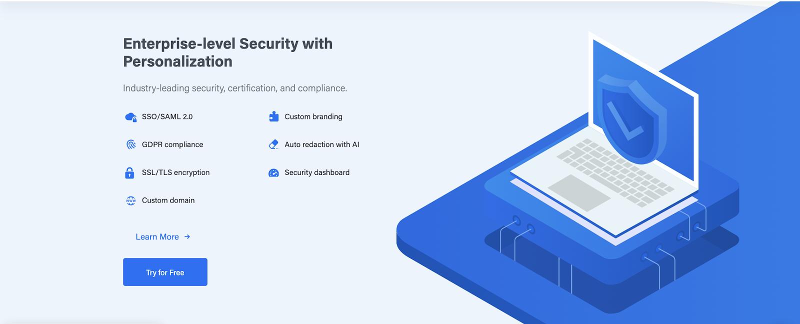 Droplr screenshot security