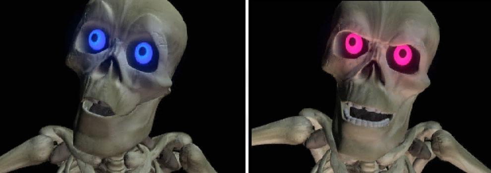 Game Over: Mr. Bones capturado fica com os olhos vermelhos (e malvado)