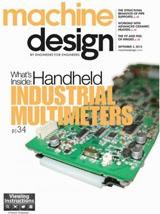 Machine Design magazine September 2013 Cover