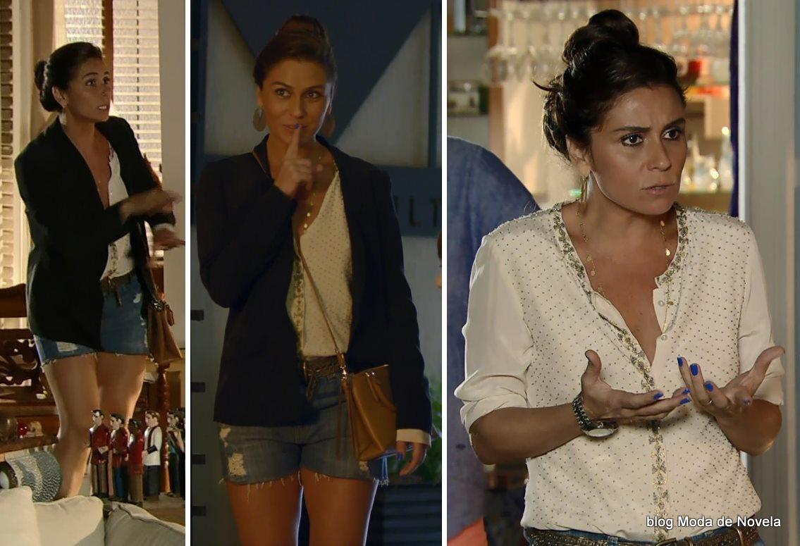 moda da novela Em Família - look da Clara dia 18 de abril