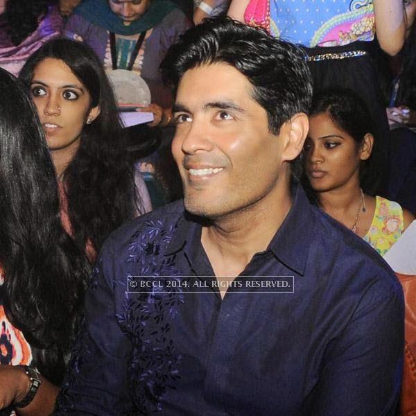 Manish Malhotra at Gaurav Gupta's show, held in Delhi.