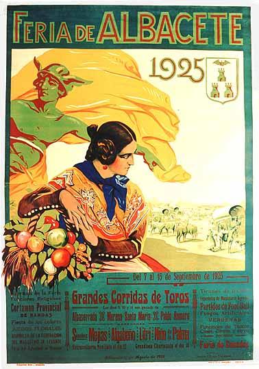 Cartel Feria Albacete 1925