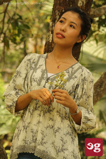 Loose floral print casulal top